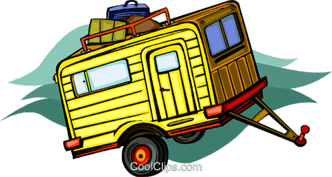 trailer Royalty Free Vector Clip Art illustration vc011382