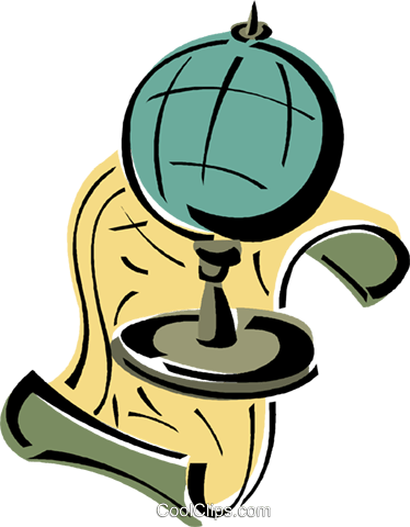 globe Royalty Free Vector Clip Art illustration vc011385