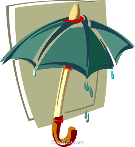 umbrella Royalty Free Vector Clip Art illustration vc011391