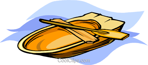 Rowboat Royalty Free Vector Clip Art illustration vc011393