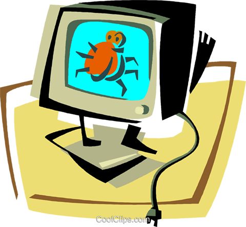 computer Royalty Free Vector Clip Art illustration vc011396