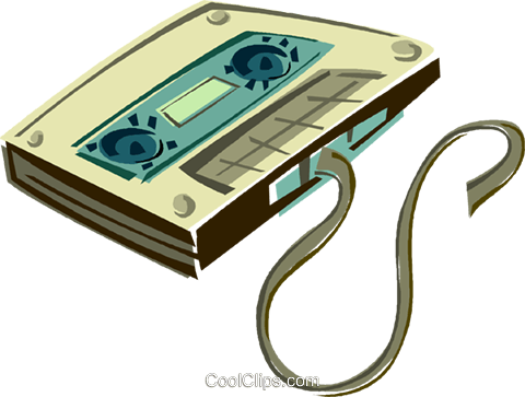 tape, tape cassette Royalty Free Vector Clip Art illustration vc011397