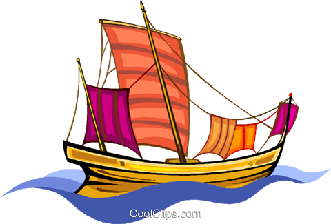 pirate ship Royalty Free Vector Clip Art illustration vc011400