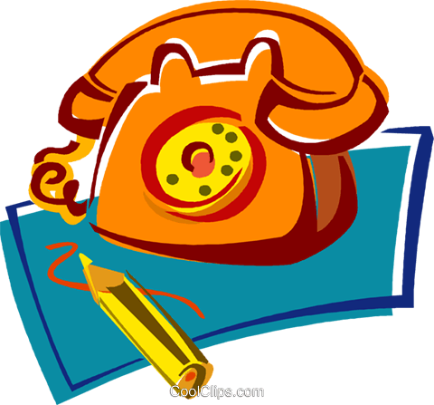 telephone Royalty Free Vector Clip Art illustration vc011402