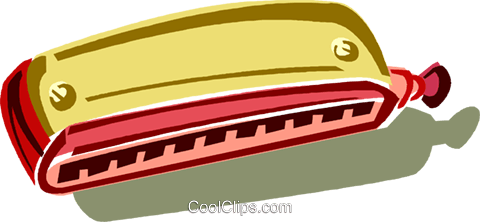 harmonica Royalty Free Vector Clip Art illustration vc011403