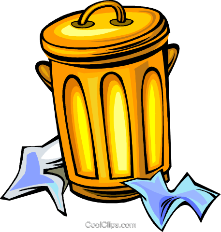 garbage can Royalty Free Vector Clip Art illustration vc011404