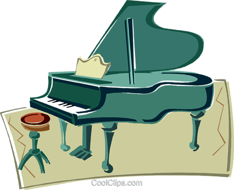 grand piano Royalty Free Vector Clip Art illustration vc011408