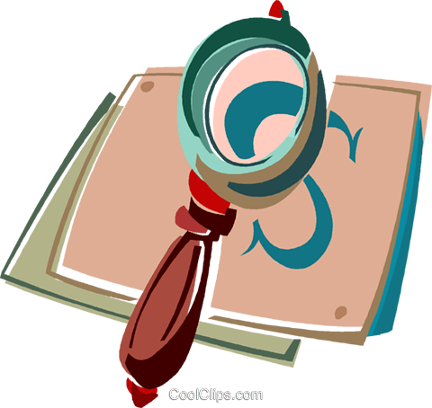 magnifying glass Royalty Free Vector Clip Art illustration vc011411