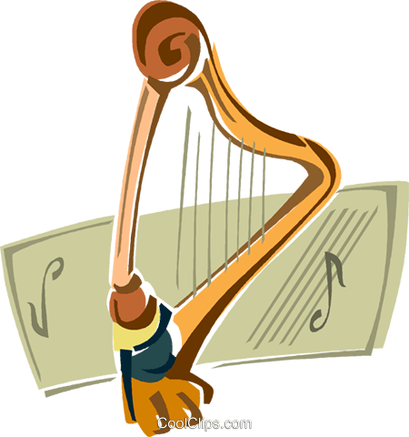 harp Royalty Free Vector Clip Art illustration vc011412