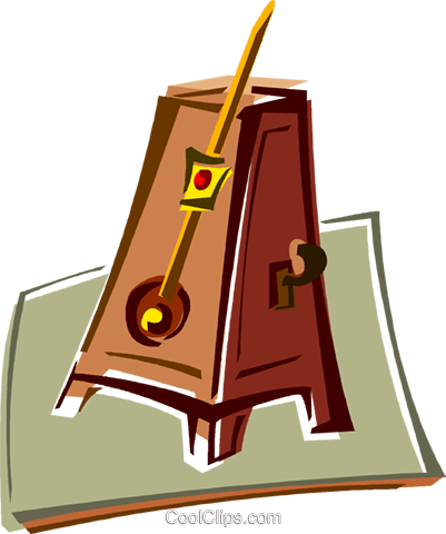 metronome Royalty Free Vector Clip Art illustration vc011419