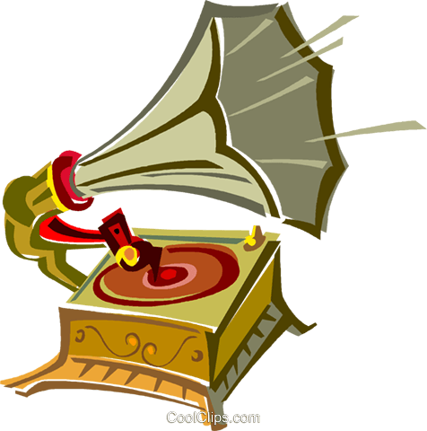 old record player Royalty Free Vector Clip Art illustration vc011423