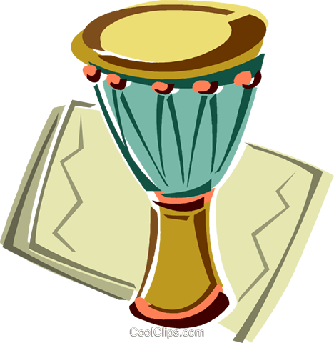 drum Royalty Free Vector Clip Art illustration vc011426