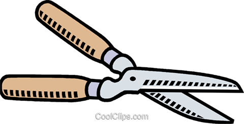 pruning shears Royalty Free Vector Clip Art illustration vc011430