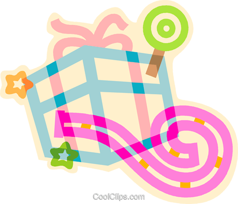birthday gift Royalty Free Vector Clip Art illustration vc011431