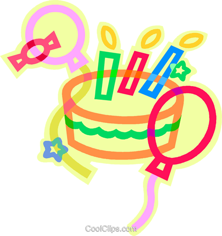 birthday cake Royalty Free Vector Clip Art illustration vc011437