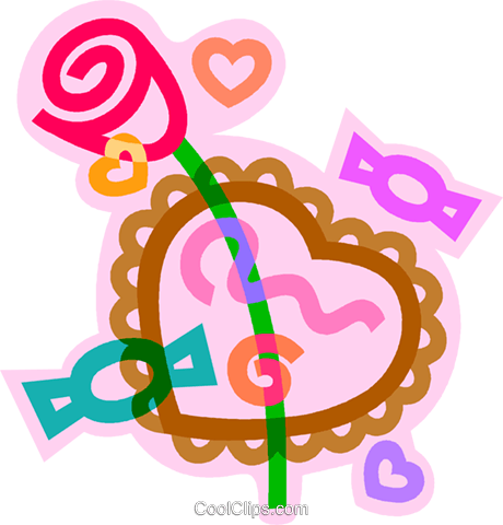 Valentine's chocolates Royalty Free Vector Clip Art illustration vc011443