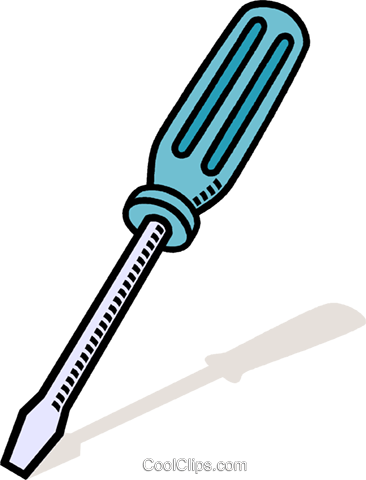 screw driver Royalty Free Vector Clip Art illustration vc011446