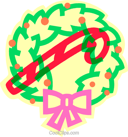 Christmas wreath Royalty Free Vector Clip Art illustration vc011447