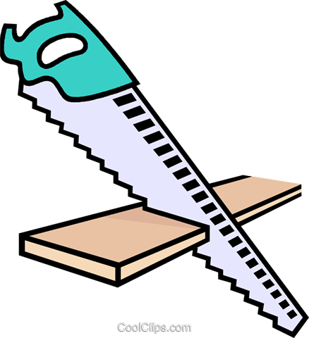 saw, handsaw Royalty Free Vector Clip Art illustration vc011448