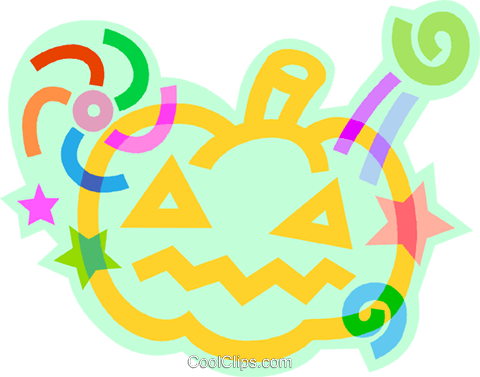 Halloween pumpkin Royalty Free Vector Clip Art illustration vc011449