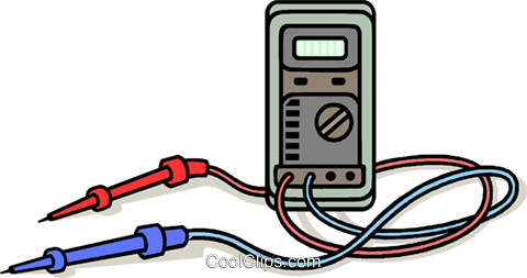 electricity tester Royalty Free Vector Clip Art illustration vc011450