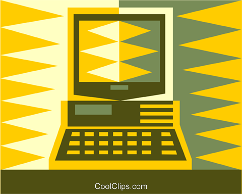 computer Royalty Free Vector Clip Art illustration vc011456