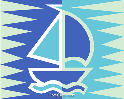 sailboat Royalty Free Vector Clip Art illustration vc011460