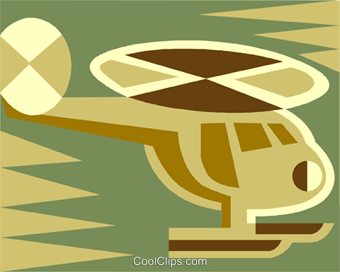 helicopter Royalty Free Vector Clip Art illustration vc011461