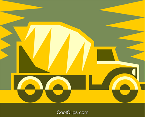 cement truck Royalty Free Vector Clip Art illustration vc011465