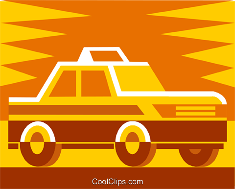 taxi Royalty Free Vector Clip Art illustration vc011467