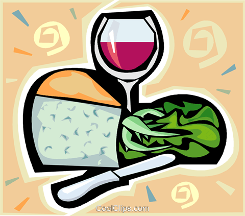 wine and cheese Royalty Free Vector Clip Art illustration vc011479