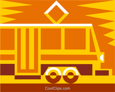 streetcar Royalty Free Vector Clip Art illustration vc011487