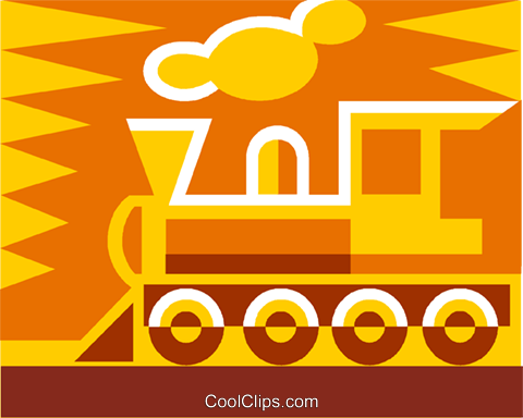 train Royalty Free Vector Clip Art illustration vc011491