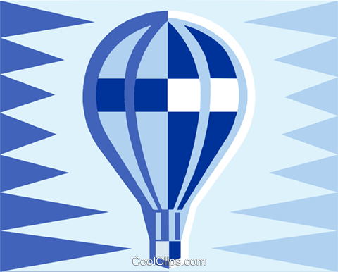 hot air balloon Royalty Free Vector Clip Art illustration vc011495