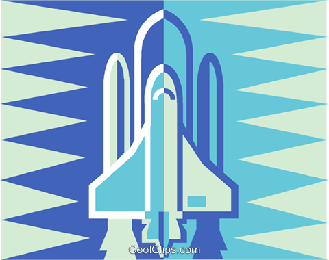 space shuttle Royalty Free Vector Clip Art illustration vc011500