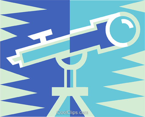 telescope Royalty Free Vector Clip Art illustration vc011504