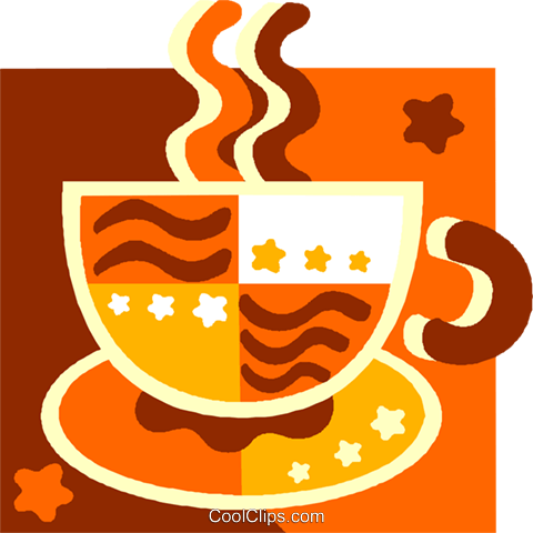 cup of coffee Royalty Free Vector Clip Art illustration vc011513