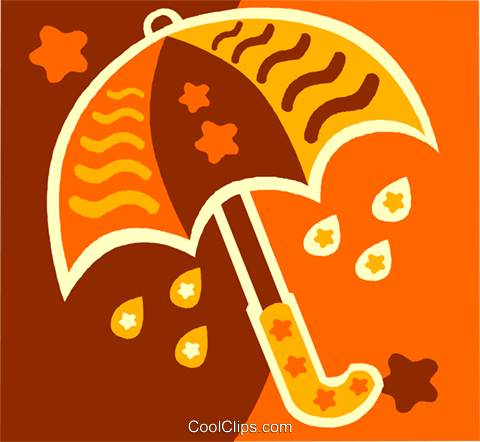 umbrella Royalty Free Vector Clip Art illustration vc011516