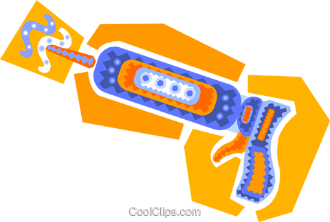 caulking gun Royalty Free Vector Clip Art illustration vc011522