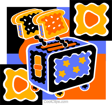 toaster Royalty Free Vector Clip Art illustration vc011527
