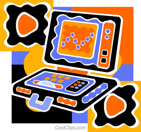 laptop computer Royalty Free Vector Clip Art illustration vc011531