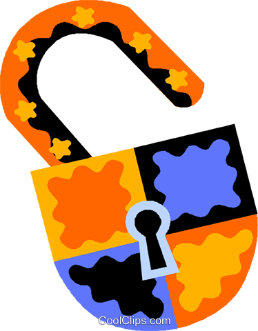 lock Royalty Free Vector Clip Art illustration vc011537