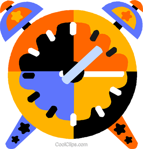 alarm clock Royalty Free Vector Clip Art illustration vc011543