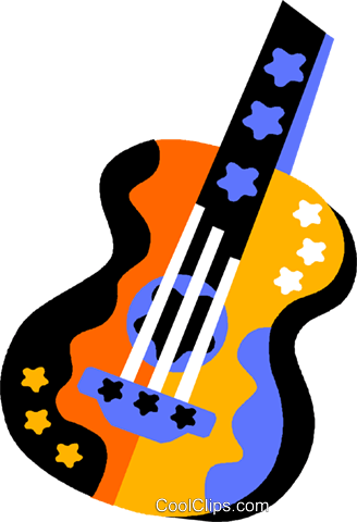 guitar Royalty Free Vector Clip Art illustration vc011557