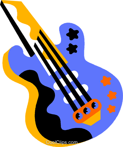 guitar Royalty Free Vector Clip Art illustration vc011575