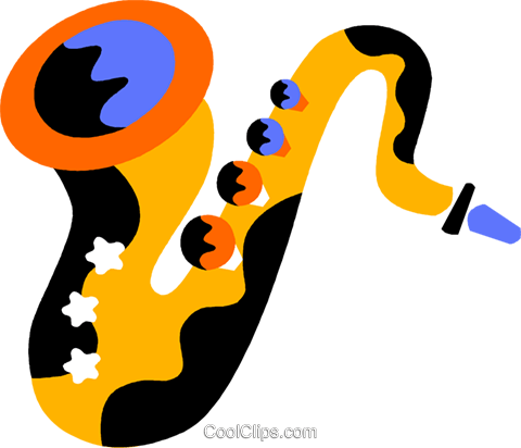 saxophone Royalty Free Vector Clip Art illustration vc011580