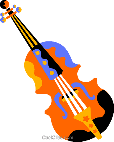 violin Royalty Free Vector Clip Art illustration vc011586