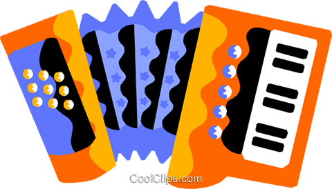 accordion Royalty Free Vector Clip Art illustration vc011590
