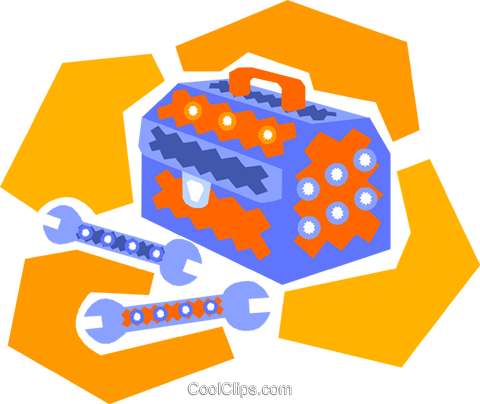 toolbox Royalty Free Vector Clip Art illustration vc011591