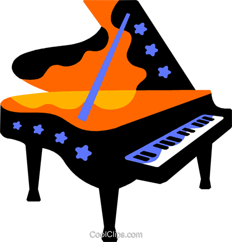 grand piano Royalty Free Vector Clip Art illustration vc011592